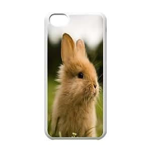 Sexyass Cute Rabbit in Grass IPhone 5C Cases Hardshell for Girls, Cute Iphone 5c Cases for Teen Girls [White] WANGJING JINDA