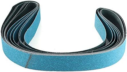 FANLLOOD Abrasive Belt 6pcs 2X72 Inch 120 Grit Zirconia Sanding Belt Metal Working Grinding Polishing Sander Tool Abrasive Sanding