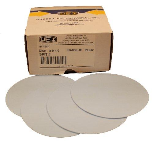 Uneeda Enterprizes, Inc M-131256 M-131256 5-Inch x No Hole NH No 400 Grit Ekablue Aluminum Oxide Paper Uneevel Hook and Loop Sanding Discs