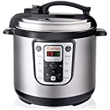 Costway 7-in-1 Electric Pressure Cooker Multi- Use Rice cooker Programmable Digital Non Stick Stainless Steel Pressure Cooker, 8 Quart 1250W Slow cooker, Perfect for Kitchen Warmer