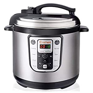 COSTWAY 7-in-1 Electric Pressure Cooker Multi- Use Rice cooker Programmable Digital Non Stick Stainless Steel Pressure… 9