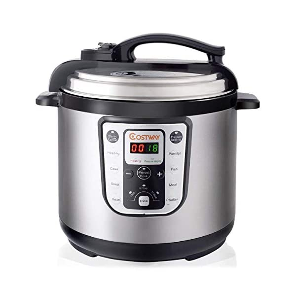 COSTWAY 7-in-1 Electric Pressure Cooker Multi- Use Rice cooker Programmable Digital Non Stick Stainless Steel Pressure… 1