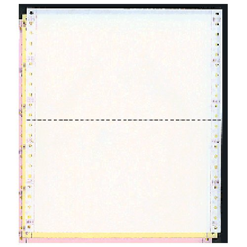 9-1/2 x 5-1/2 Dot Matrix Pinfeed Computer Paper Scale Tickets (White - Yellow - Pink)