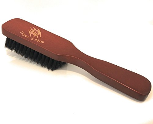 Tiger's Nail Premium Beard Brush For Men:100% Natural Wild BoarBristle And Ergonomic Dutch WoodHandle, For Untangling, Conditioning And Grooming Facial Hair And Mustache, Growth Stimulating - Hair Styles Round Face Facial