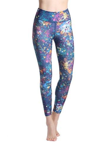 Lotus Instyle Mujeres Pantalones Deportivos Athletic Gym Entrenamiento Fitness Yoga Leggings Pantalones Floral2