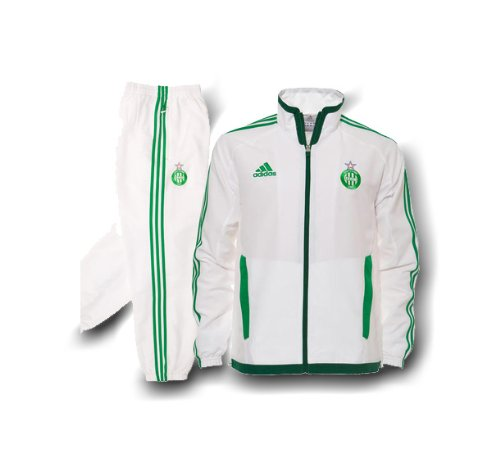 best selling usa cheap sale huge inventory adidas 1-Survêtement ASSE St Etienne PRES Blanc (2011-2012 ...