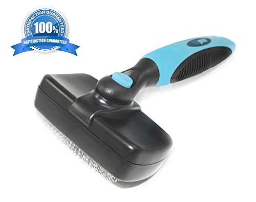 Pet Grooming Tool Self-Cleaning Slicker Brush For Small-Medium Size Dogs & Cats Short-Long Hair
