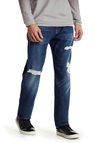 7 For All Mankind Men's Standard Straight Leg Jeans (30, Adventurous) by 7 For All Mankind