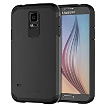 JETech Case for Samsung Galaxy S5, Slim Fit Protective Cover, Black