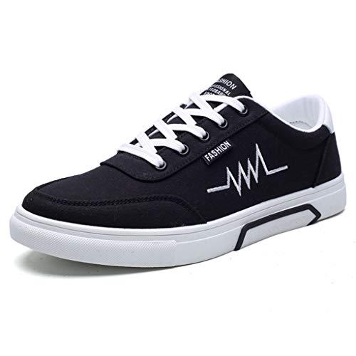 Color da da scarpe bordo Black WangKuanHome selvatici scarpe Scarpe 46 tela di tendenza Gray tela Size casual estate uomo scarpe traspirante di uomo YwUwqZxa8