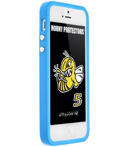 Horny Protectors Cover Case Bumper Schutzhülle für Apple iPhone 5 TPU Silikon hellblau