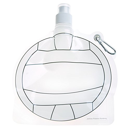 HydroPouch! 24 Oz. Volleyball Collapsible Water Bottle Patented - 100 Quantity - $3.40 Each - PROMOTIONAL PRODUCT / BULK / BRANDED with YOUR LOGO / CUSTOMIZED by Sunrise Identity (Image #2)