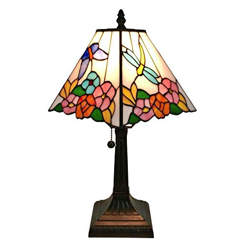 - Amora Lighting AM248TL08 Tiffany Style Floral Mission Style Table Lamp 8 Inches Wide