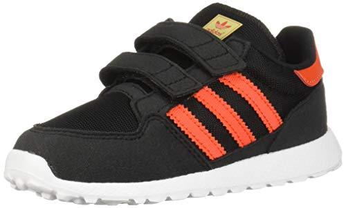 adidas Originals Baby Forest Grove CF Running Shoe, Black/Active Orange/Easy Yellow, 4K M US Toddler (Orange Adidas Baby)