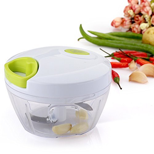 Uten 2-3 Cup Mini Handheld Food Chopper Vegetable Mincer with 3-Blades ()