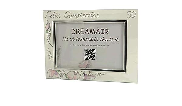 Amazon.com - Dreamair 50 Feliz Cumpleaños Marco de fotos ...