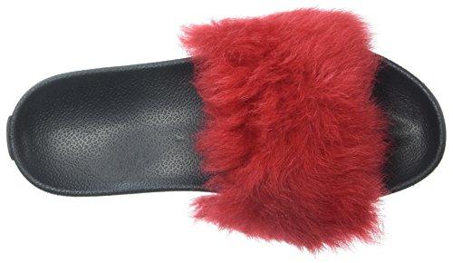 UGG Australia Damen Royale Slide Sandale Ribbon rot