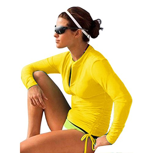 Women's Long Sleeve Rash Guard Wetsuit Swimsuit Top UV Sun Protection (901 L, ()