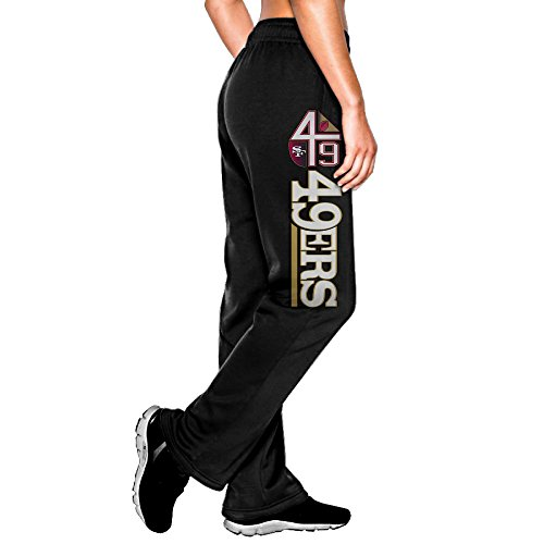 Vivisa Women's Cool Sports Trouser San Francisco Football Logo Black XL