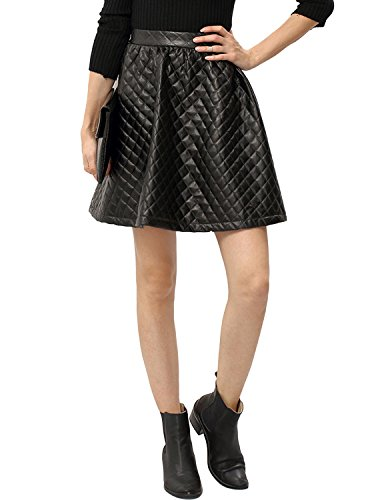 quilted leather skirt - 1