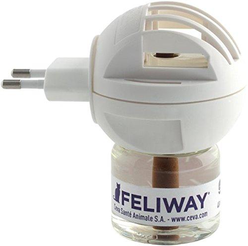 FELIWAY Zerstäuber - Set (Stecker + 48ml Flakon) gegen Stressverhalten (z.B. markieren, urinieren) Ihrer Katze