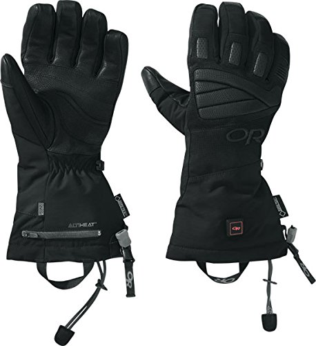 Outdoor Research Lucent Heated Gloves, Black, X-Large