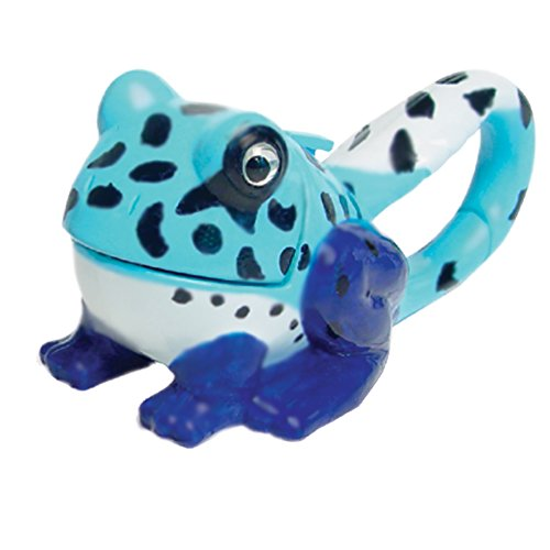 Design Hand Painted Collectible - Sun Company Lifelight Animal Carabiner Flashlight - Blue Frog | Cute Animal Keychain Lights