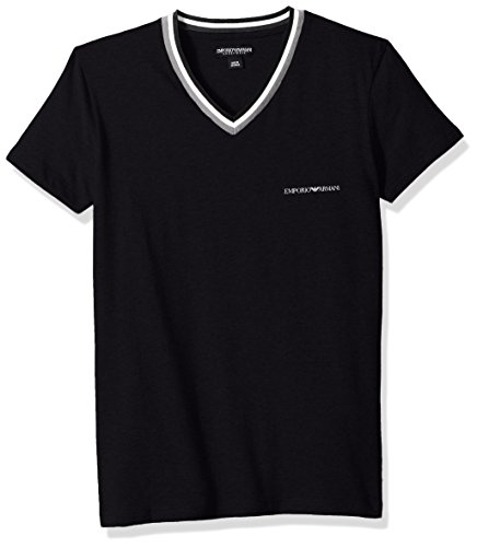 Emporio Armani Men's Rugby Player Vneck T-Shirt, Black, - Men For Armani Emporio