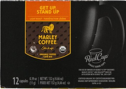 Marley Coffee Get Up Stand Up Single Serve 6/12/.39