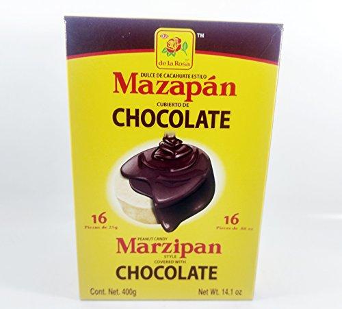 De La Rosa Marzipan - Box De La Rosa Mazapan covered chocolate of 16 Pieces Authentic Mexican Candy