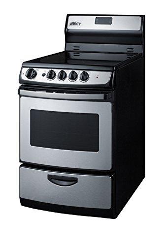 Summit REX245SS Fba Kitchen Cooking Range, (Stainless Steel Lower Track)