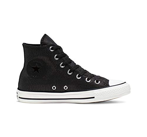 Converse Women's CTAS Hi White/Black Sneaker, 7 M US from Converse