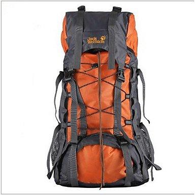 76ad80e004 BBYaKi 55 L Zaino Per Escursioni Campeggio E Hiking Ompermeabile  Multifunzione , Orange