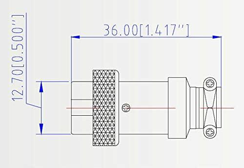 SBE-Ryun 3 Pin Microphone Connector Metal Female Panel Connector 16mm GX16-3 for cb Microphone,Pack of 4