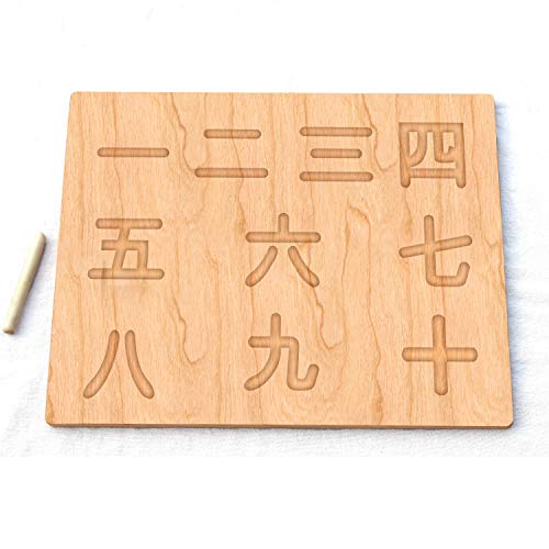 - crystal pearls Chinese 1-10 Number Board - Waldorf Montessori School Toy - Wooden Toy Gifts - Keepsake Gifts