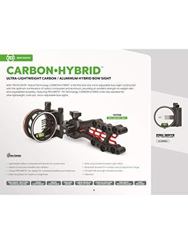 Buy truglo carbon hybrid 5 pin sight, black