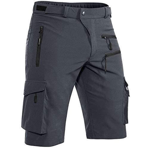 Hiauspor Men's Outdoor Quick Dry Hiking Shorts Lightweight Water Resistant Tactical Cargo Shorts for Fishing Travel…