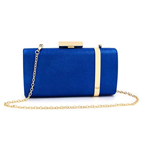 De Mariage Pochette Soirée Femme Chaîne blue Avec fanbufan Sac Mini Embrayages Cadeau Anneau qgExn4w