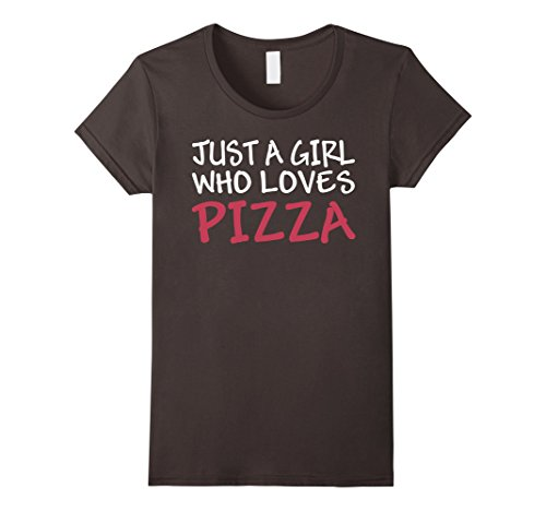 Womens Just A Girl Who Loves Pizza National Pizza Day T Shirt Small Asphalt