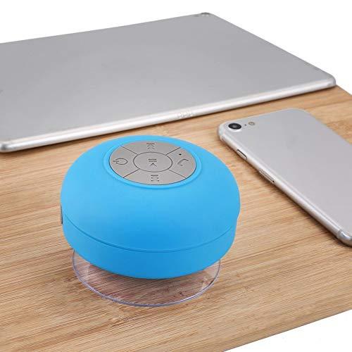 Peanutaso Mini Altoparlante Wireless Portatile per Doccia Impermeabile per Telefono MP3 Ricevitore Vivavoce per Auto SpeakerBlue