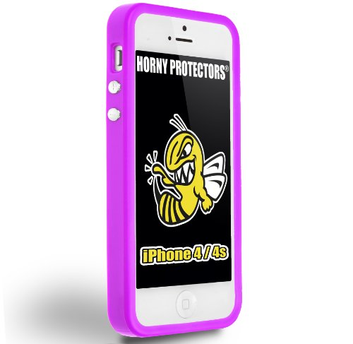 Horny Protectors iP4s-2009 Bumper TPU/Silikon Schutzhülle für Apple iPhone 4S/4 lila
