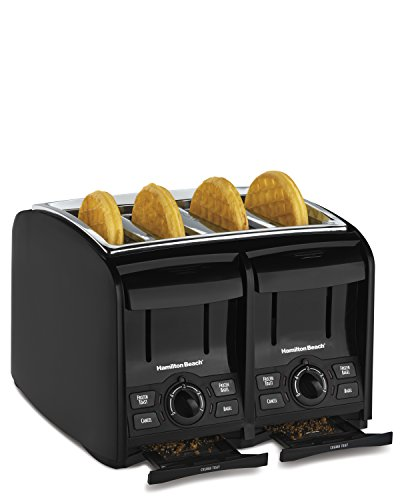 black 4 slice toaster - 7