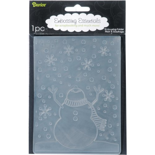 Darice 1216-65 Embossing Folders, 4.25 by 5.75-Inch, Snowman Arms Up
