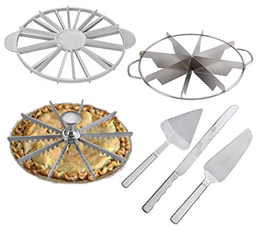 Cake & Pie Cutter Set Bundle - Cake Cutters + Markers + Server + Knife - Everything You Need To Create Professional Presentations By Serving Uniform Pie & Cake Slices Every Time