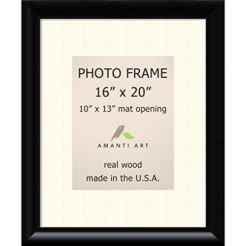 amazon com picture frame 16x20 matted to 10x13 steinway black
