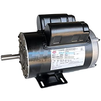 Image of Home Improvements NEW 3.7HP COMPRESSOR DUTY ELECTRIC MOTOR, 56 FRAME, 3450 RPM, 5/8' SHAFT DIAMETER, NEMA RATED MOTOR, REPLACES 5HP SPL MOTORS RATED 15-17AMPS