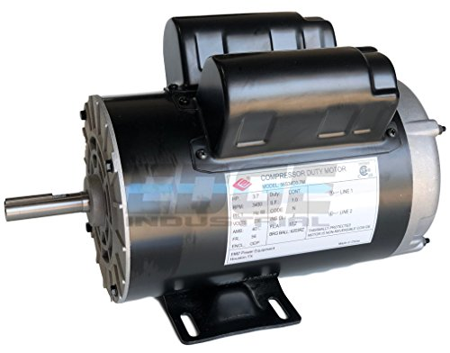 NEW 3.7HP COMPRESSOR DUTY ELECTRIC MOTOR, 56 FRAME, 3450 RPM, 5/8
