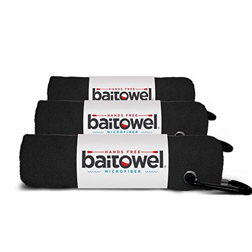 Hands Free Microfiber Bait Towel (Midnight Black) pack of 3
