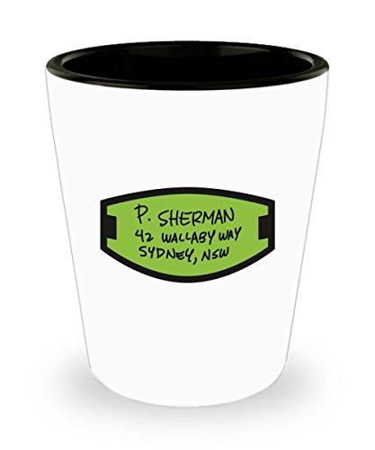 P. Sherman 42 Wallaby Way Sydney Coffee Mug Cup 1.5oz - Finding Nemo Dory Disney Movie Gifts Merchandise Accessories Shirt Sticker Decal Artwork Deco ()