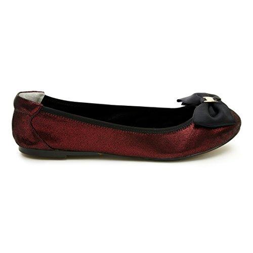 Cocorose Faltbare Schuhe - Carnaby Damen Espadrilles Granat